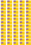 Niue Flag Stickers - 65 per sheet